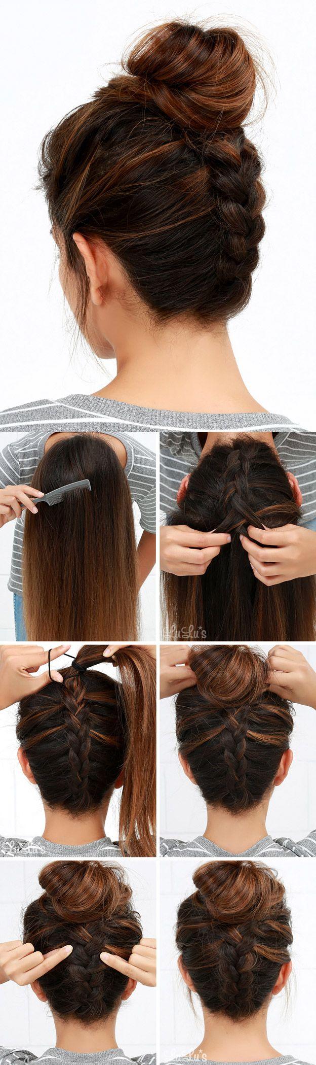 красивые прически в школу для старшеклассниц Hair Pinterest