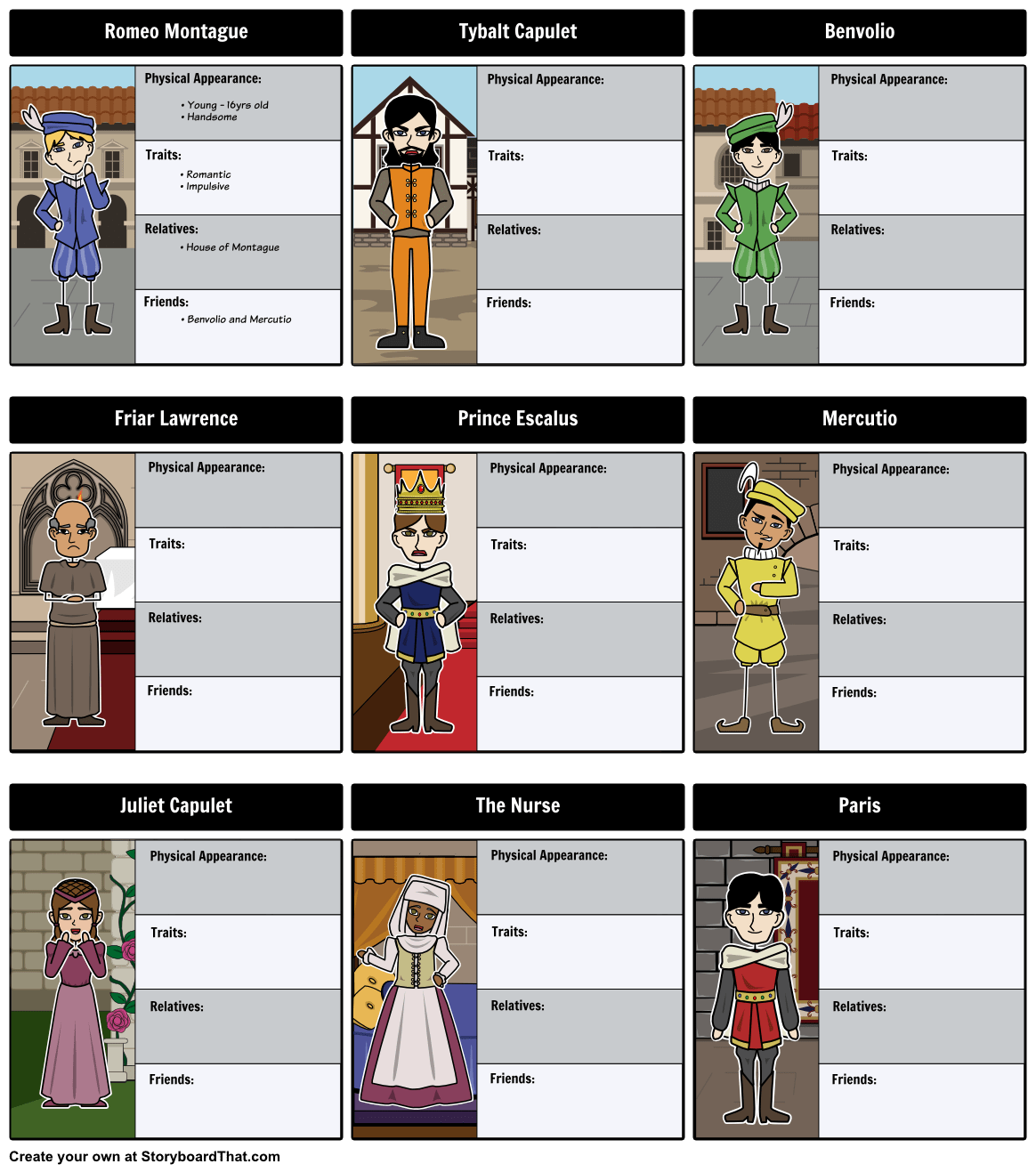 Tired Of Your Students Confusing Characters Create Character Maps With Our Extensive Library Of
