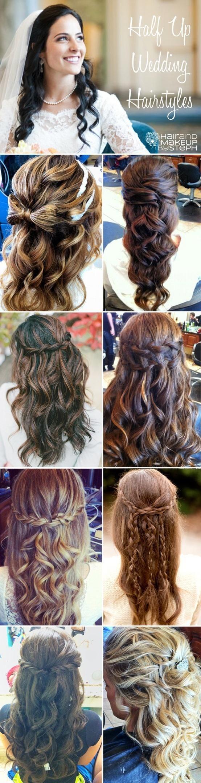 Half up half down Hair and Make up Pinterest Face Wedding