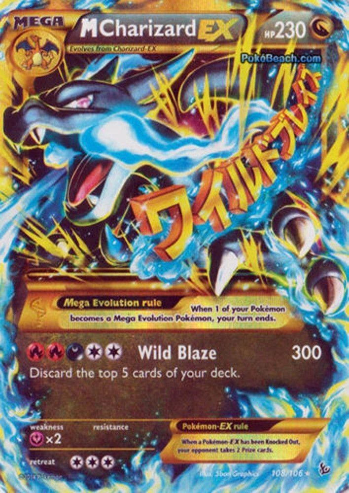 M Charizard EX 108106 Pokemon XY Flashfire MEGA SECRET