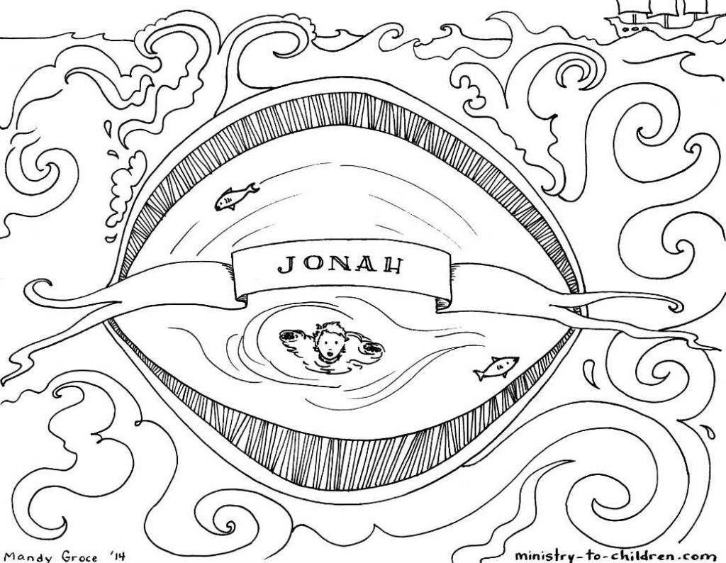 This Free Coloring Page Is Based On The Book Of Jonah It S One Part Of Our Series Of