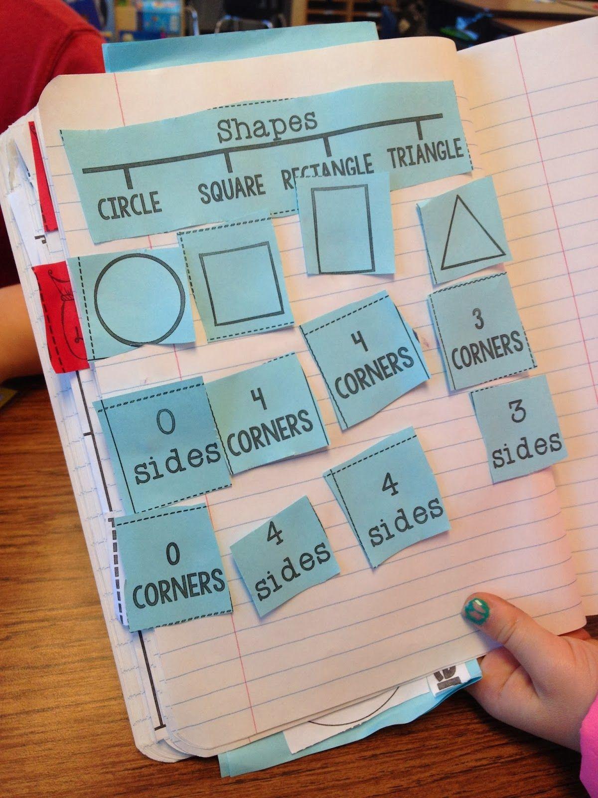 Math Journal Printables Shapes Math Journal Shapes