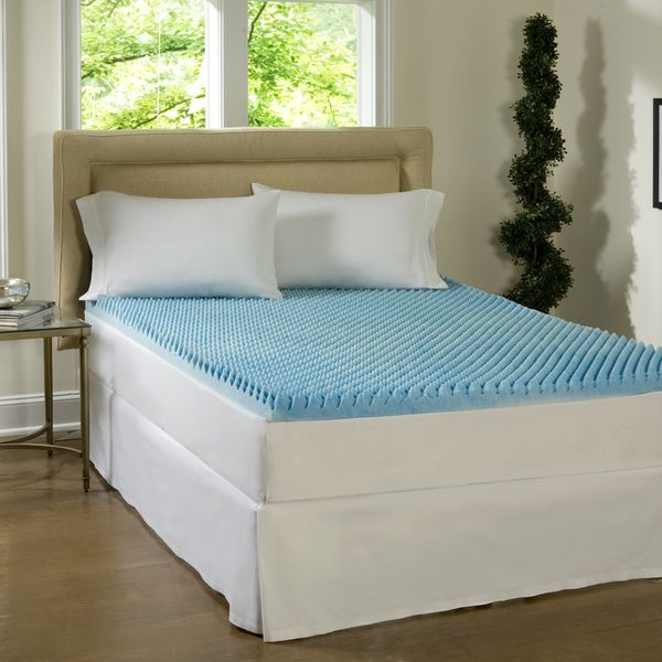 Beautyrest 3 Inch Sculpted Gel Memory Foam Mattress Topper Ping The