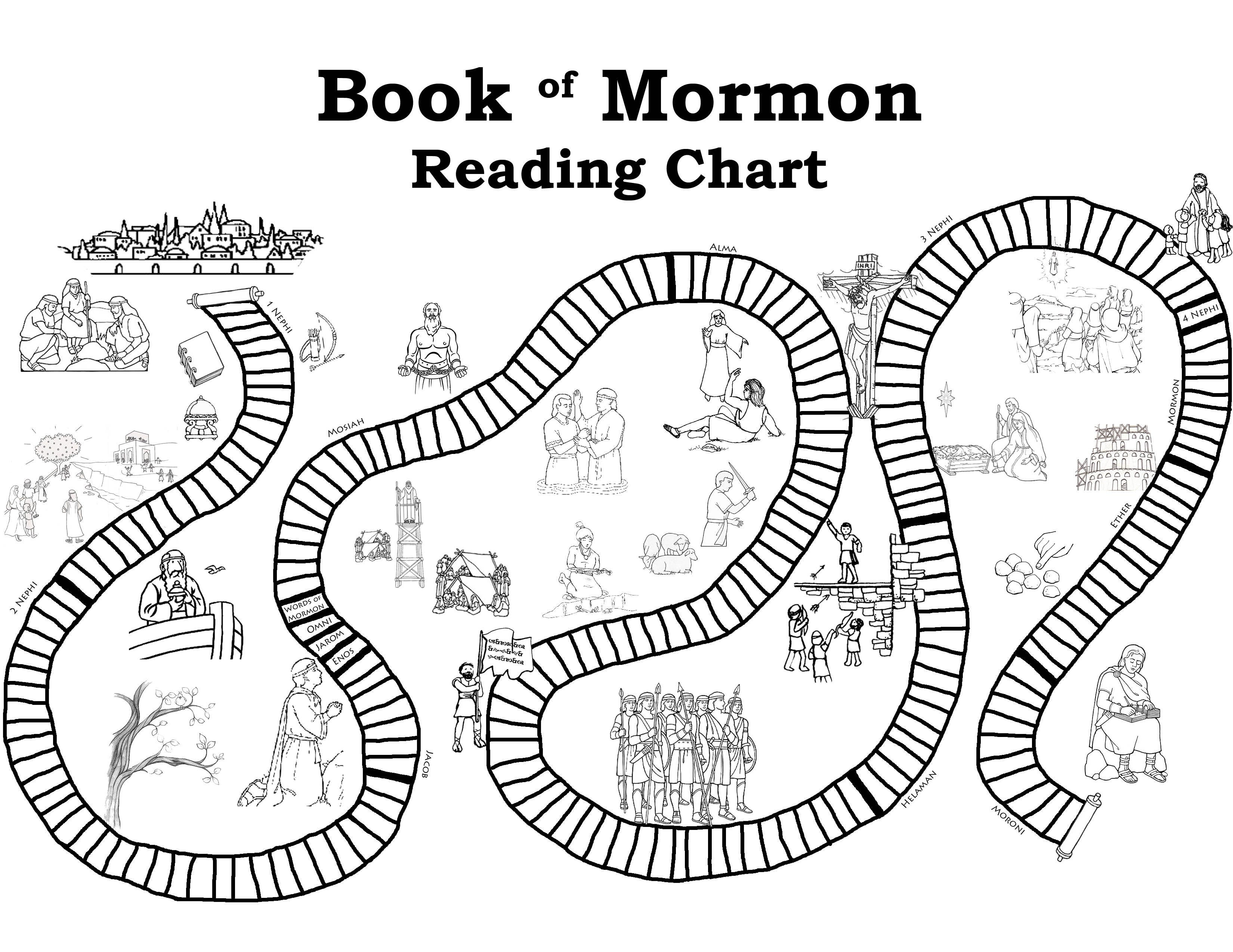 Reading Chart For The Book Of Mormon A Little More Fun