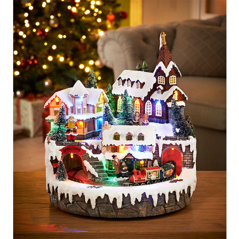 Decoration Ideas Interactive Images Of Christmas: Christmas Train Scene Decorations