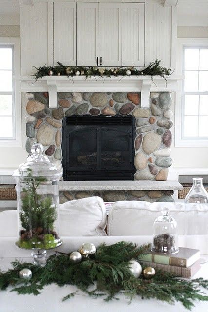 Christmas Decorating Pine In Apothecary Jars Things