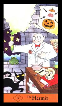halloween tarot card 10