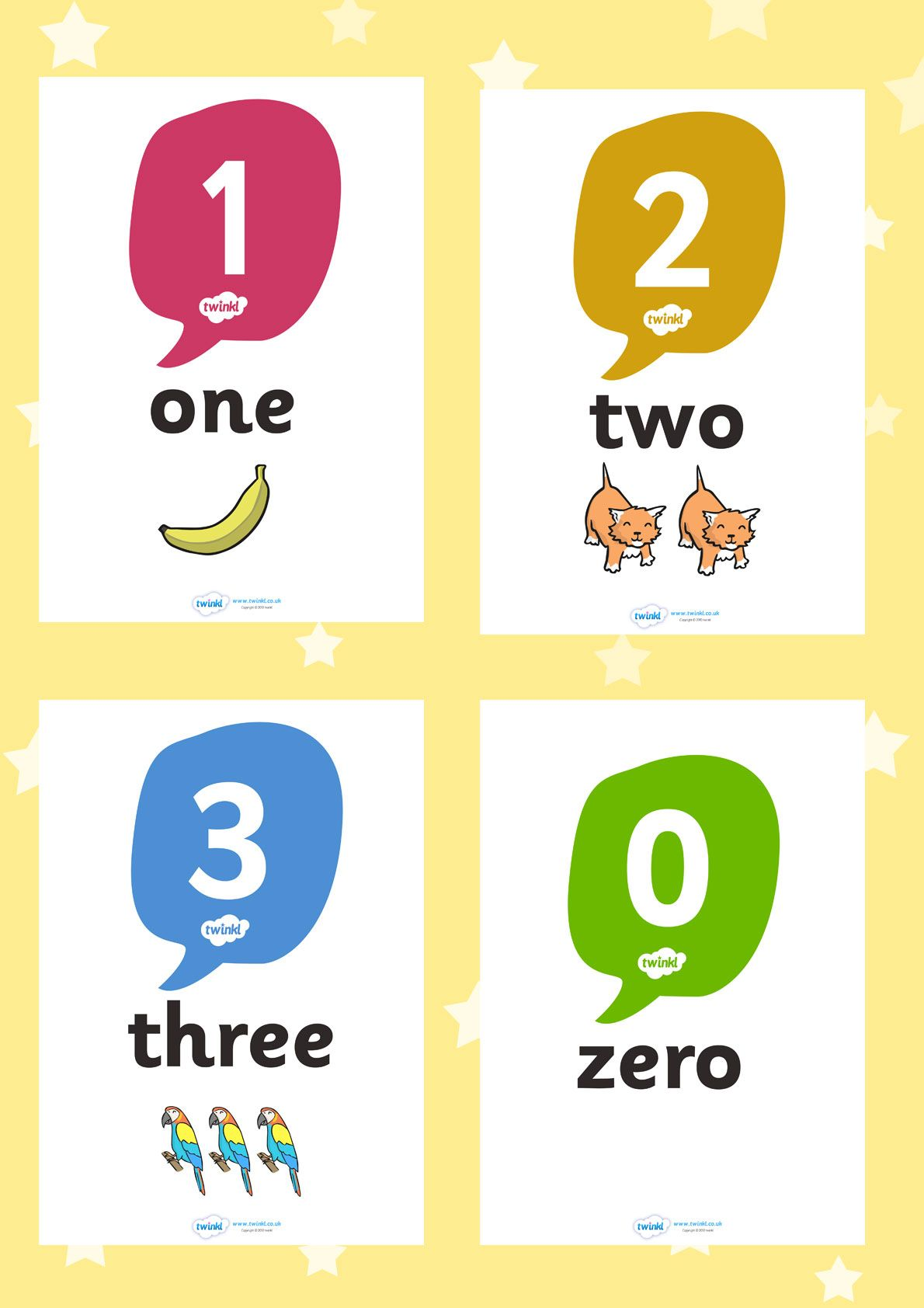 Twinkl Resources Gt Gt 0 20 Number Word Image Posters