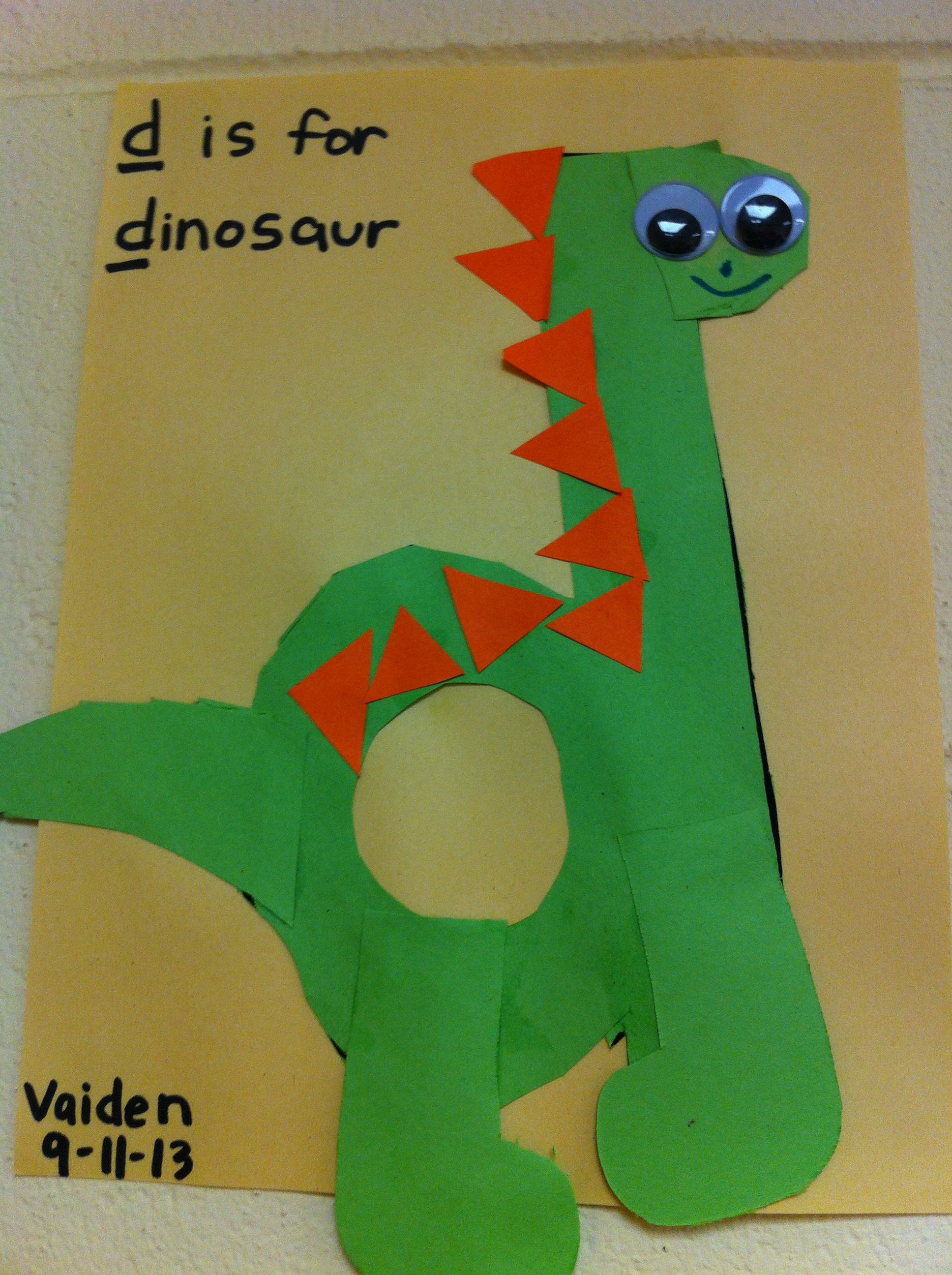 D Is For Dinosaur Preschool Art Lowercase Abcs
