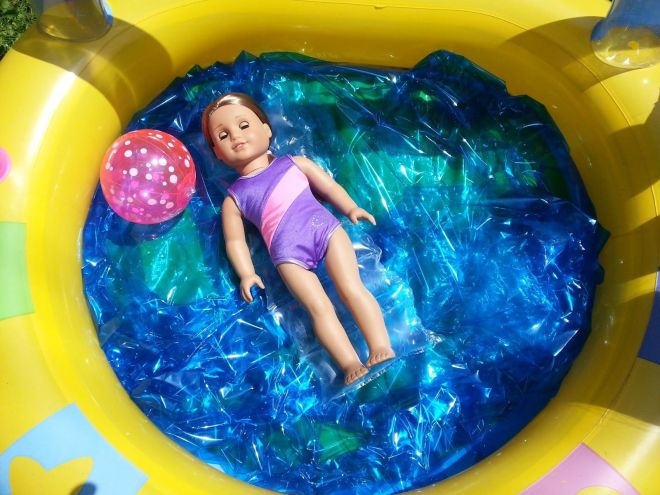 American girl doll crafts and fun pool party ruckus