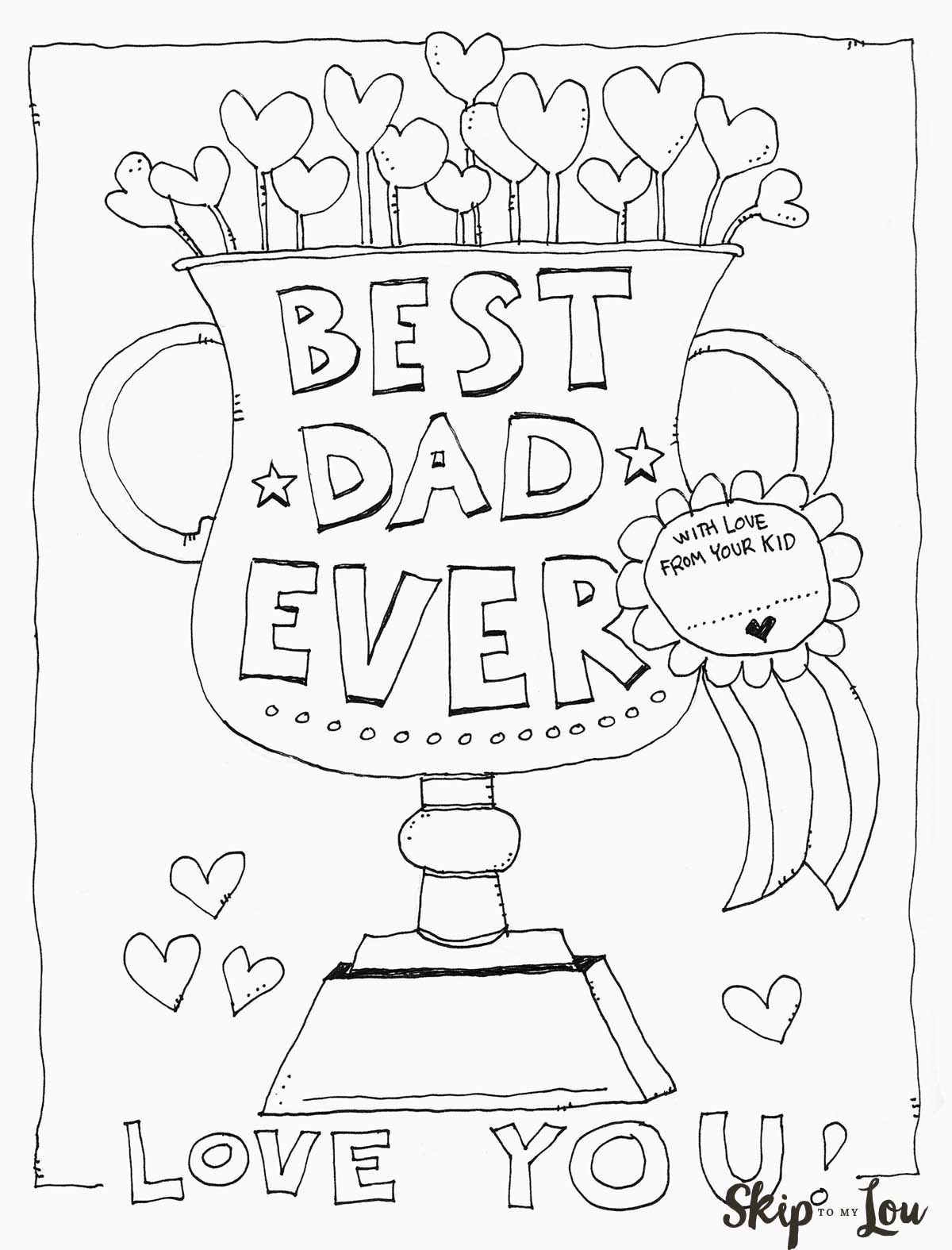 Free Printable Dad Coloring Page For Father S Day This