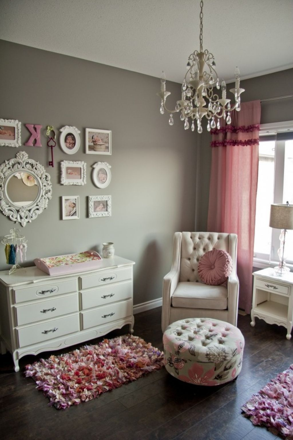 Shabby Chic Nursery Furniture Pink And Grey Little Girls