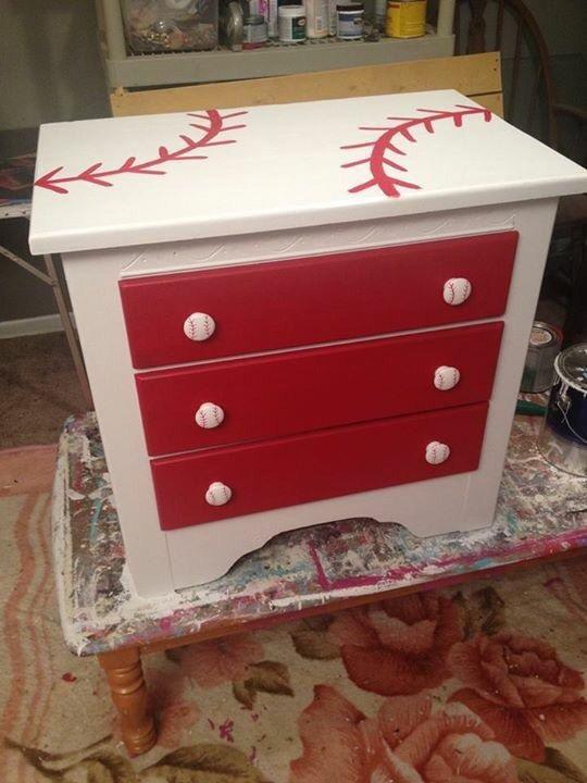 Diy Baseball Themed Dressers Google Search
