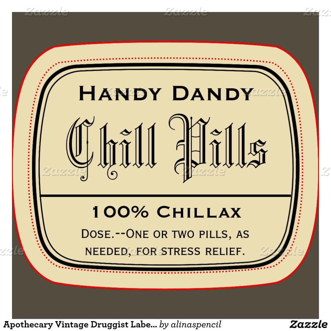 Free Printable Chill Pills Label