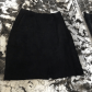 Vintage Wilson Black Suede Skirt Size Suede skirt Leather