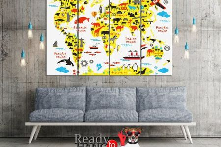 Childrens world map canvas path decorations pictures full path room decor pictureta dinosaur world map etsy dinosaur map map of the world world map nursery baby room decor dinosaur world map children kids map canvas gumiabroncs Image collections