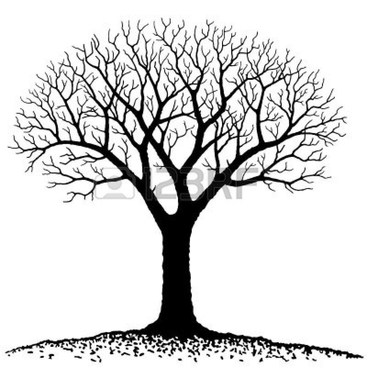 Bare Tree Silhouette Clip Art