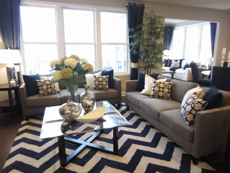 The 25+ Best Navy Blue And Grey Living Room Ideas On