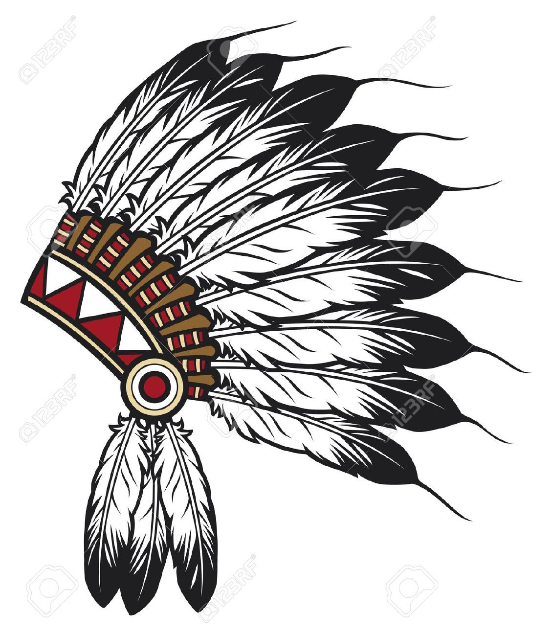 Indian Chief Stock Illustrations Cliparts And Royalty