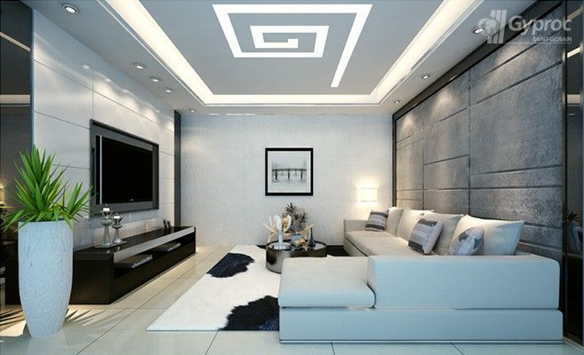 Saint Gobain False Ceiling Designs For Living Room