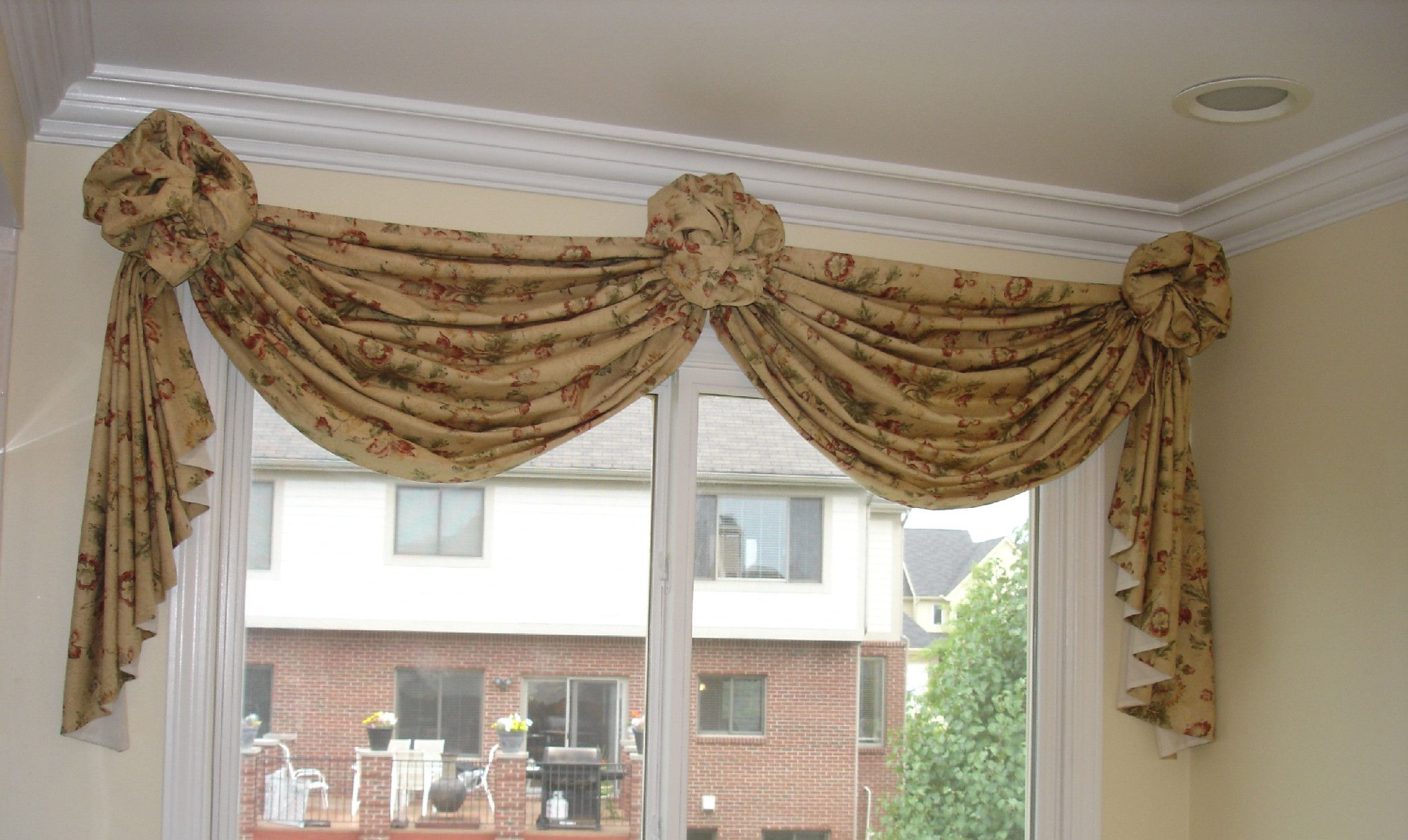 How To Make A Valance With 2 Window Panels