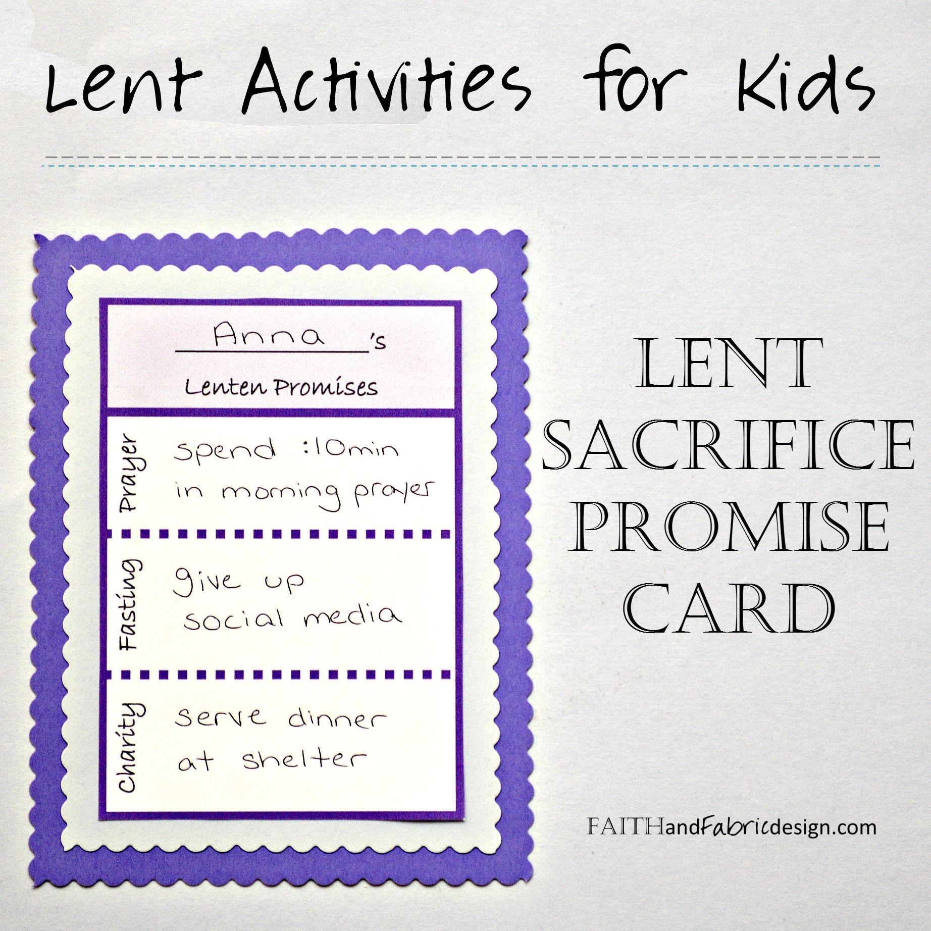 Lent Activity Worksheet High School