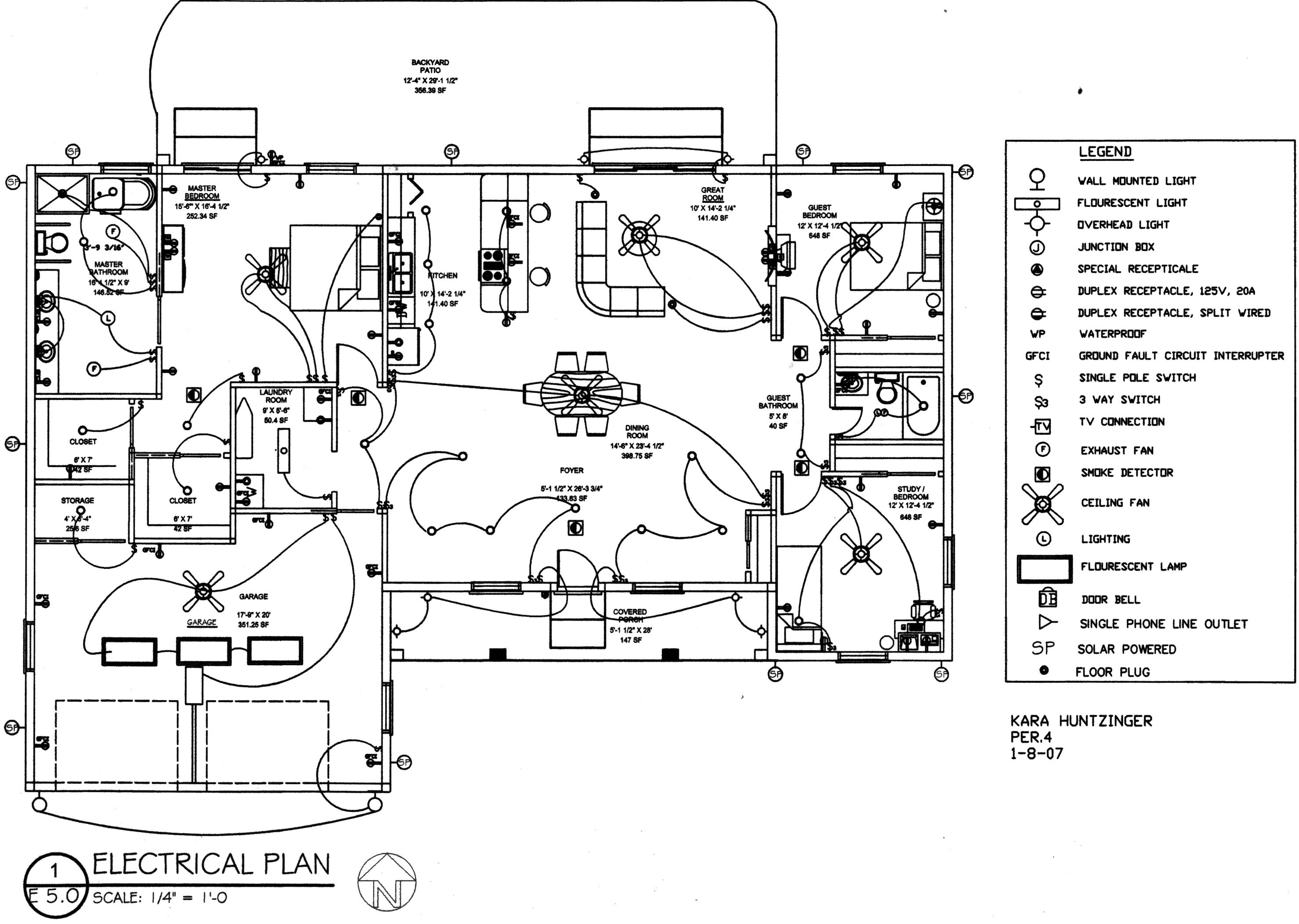 Typical Garage Electrical Drawing