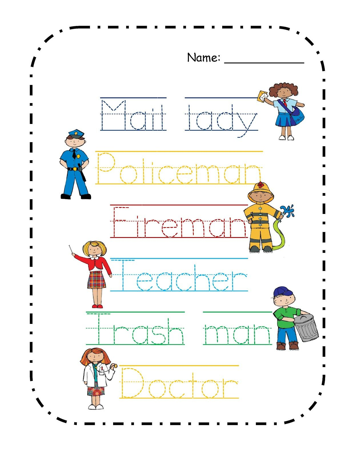 Preschool Printables Free Community Helper S Mini