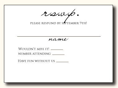 rsvp card wording response cards examples and wedding - Rsvp Card Examples