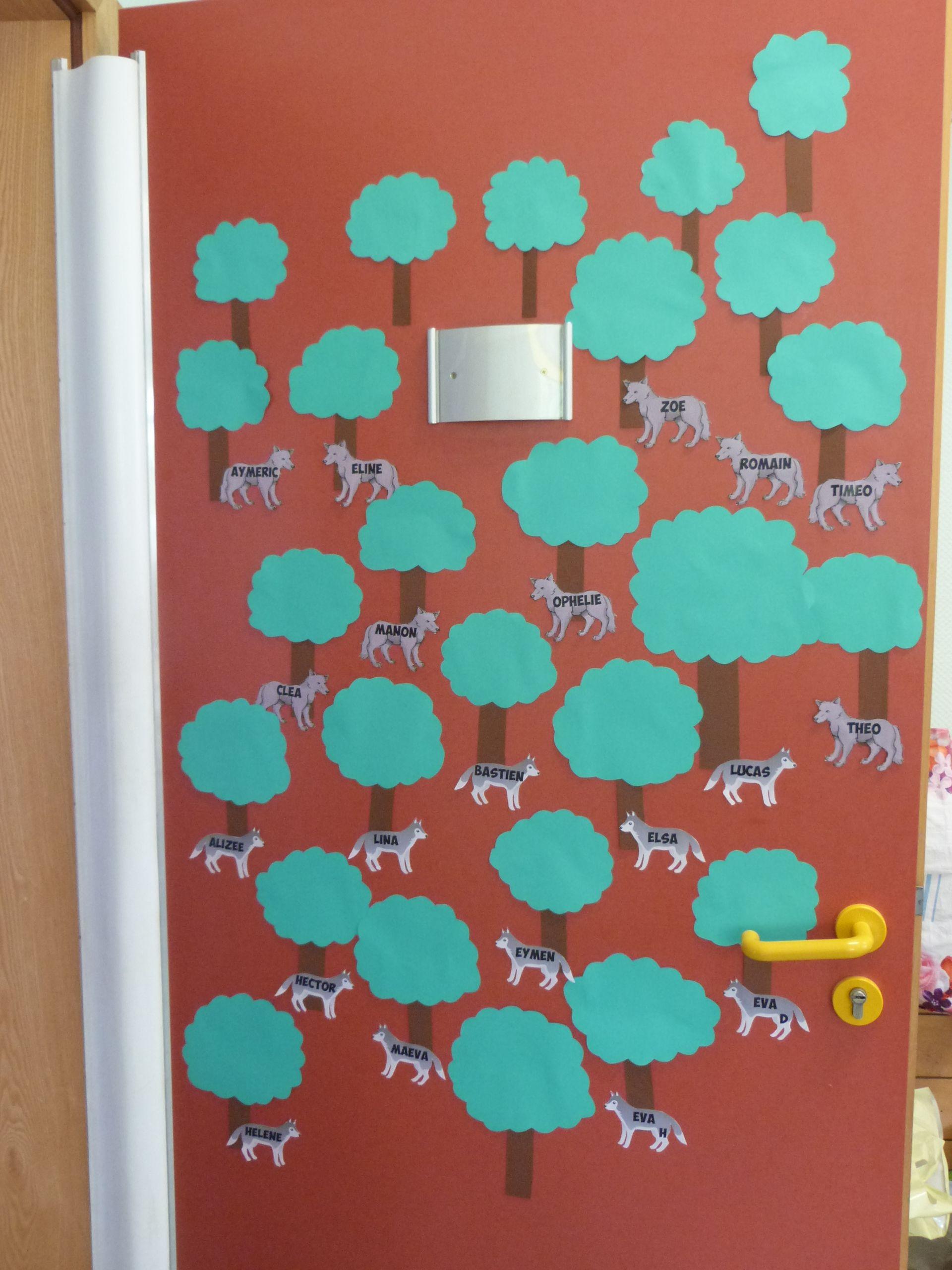 Deco De Porte Deco De Classe Avec Des Loups