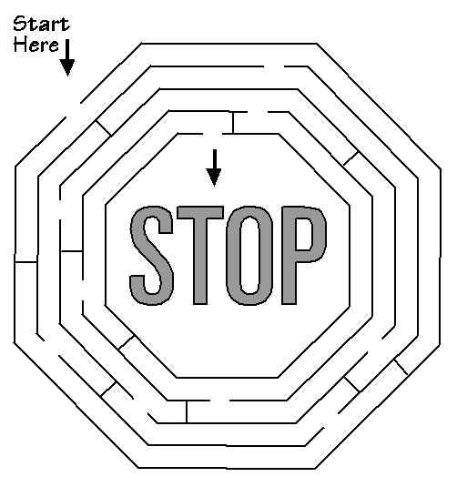 free printable activity sheets  stop sign maze. your kids