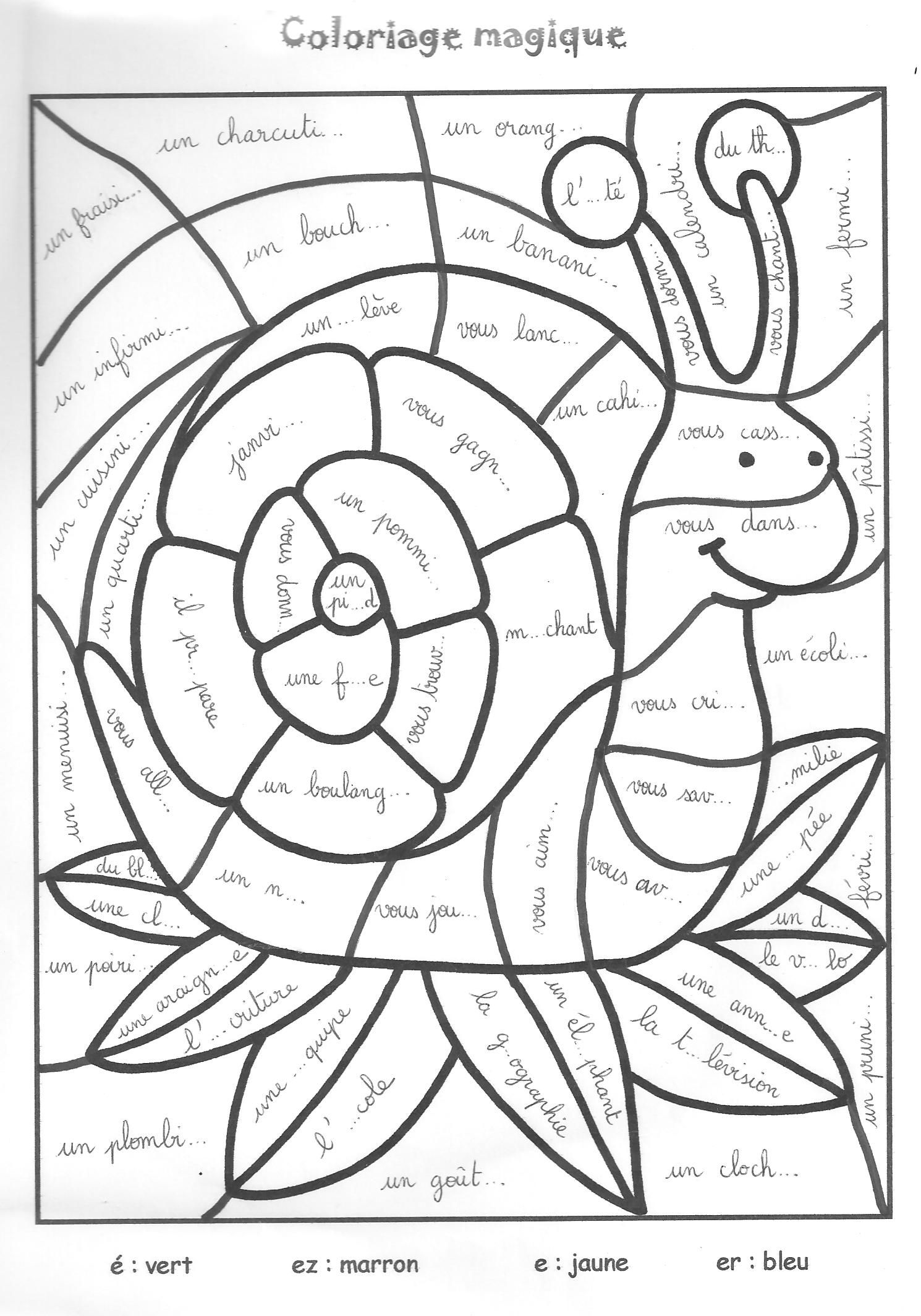 Relaxing Coloring Pages Free Escargot