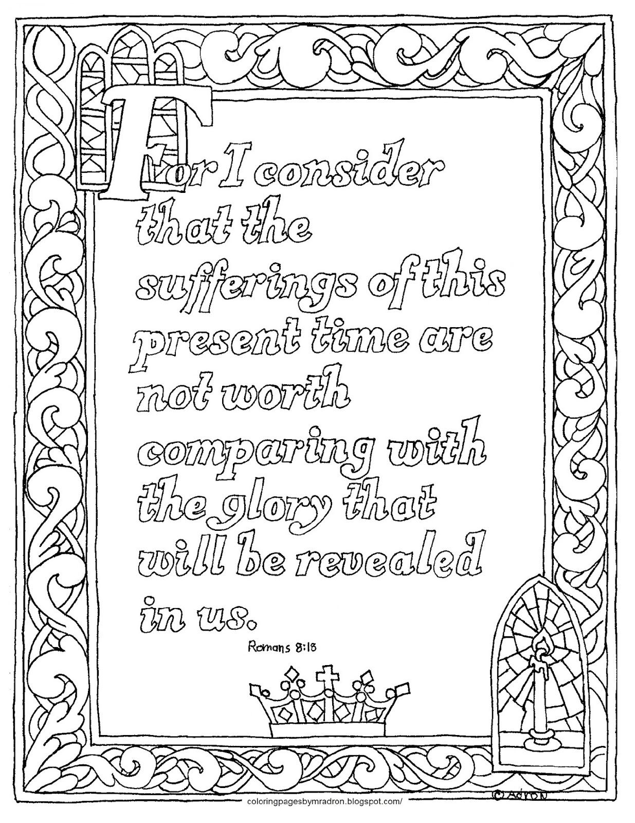 Coloring Pages For Kids By Mr Adron Romans 8 18 Free Printable Coloring Page