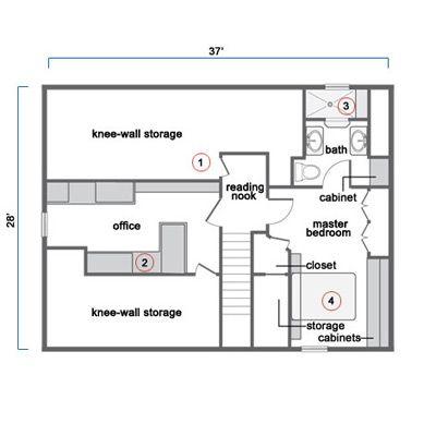 Attic Bedroom Floor Plans