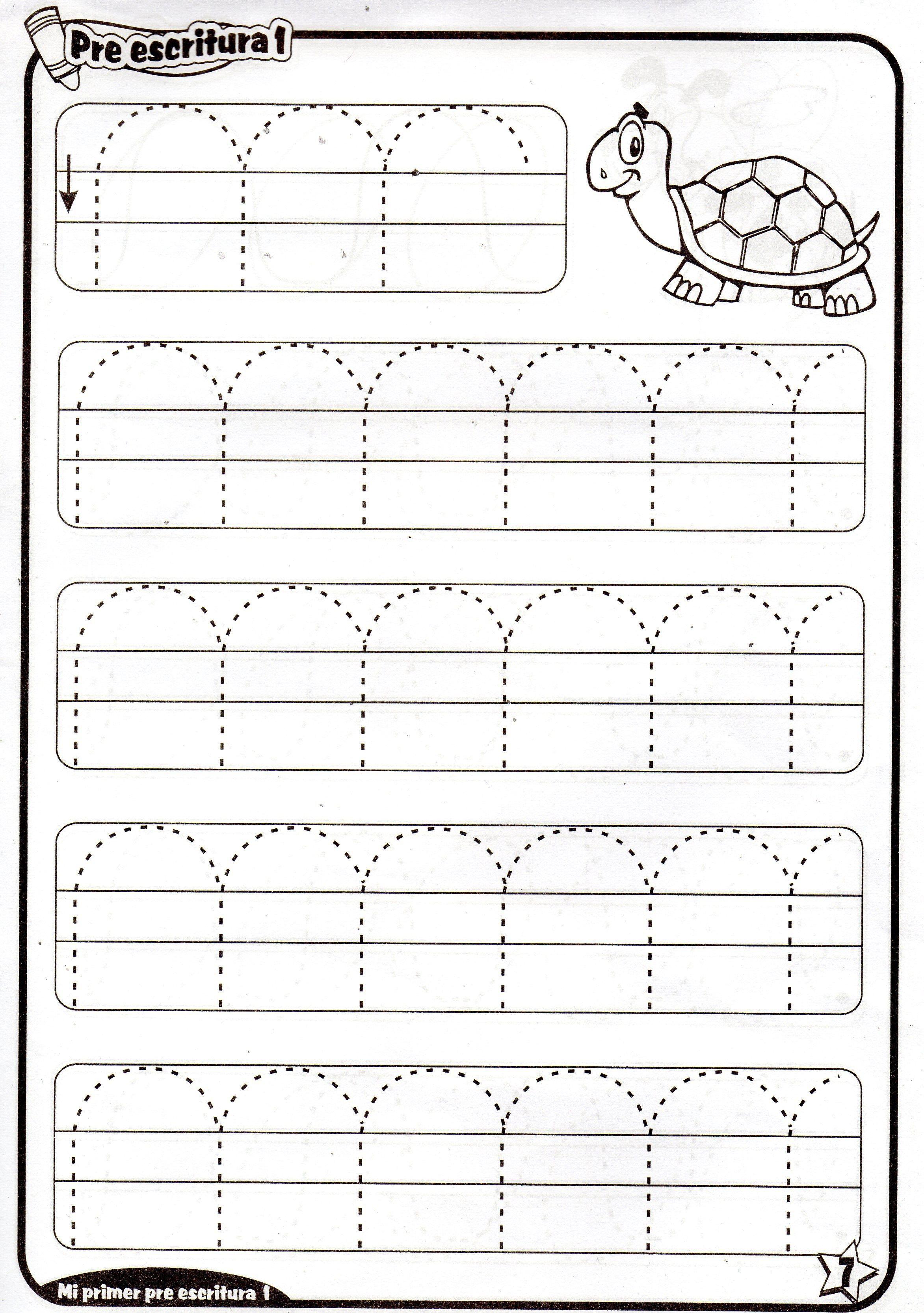 Fichas De Preescritura Imprimibles Para Ninos De 4 Anos
