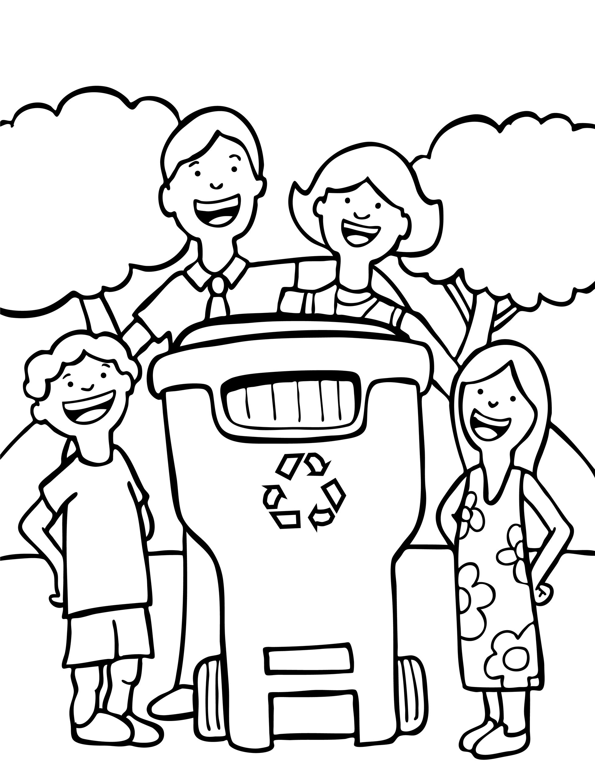 Free Earth Day Coloring Page For Children Let S Recycle