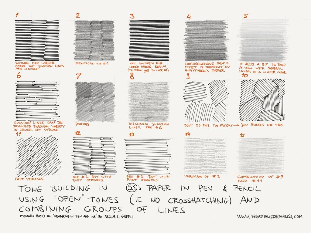 Tone Building Cheat Sheet Using The Pen And Pencil Tool In Fiftythree S Paper These Are