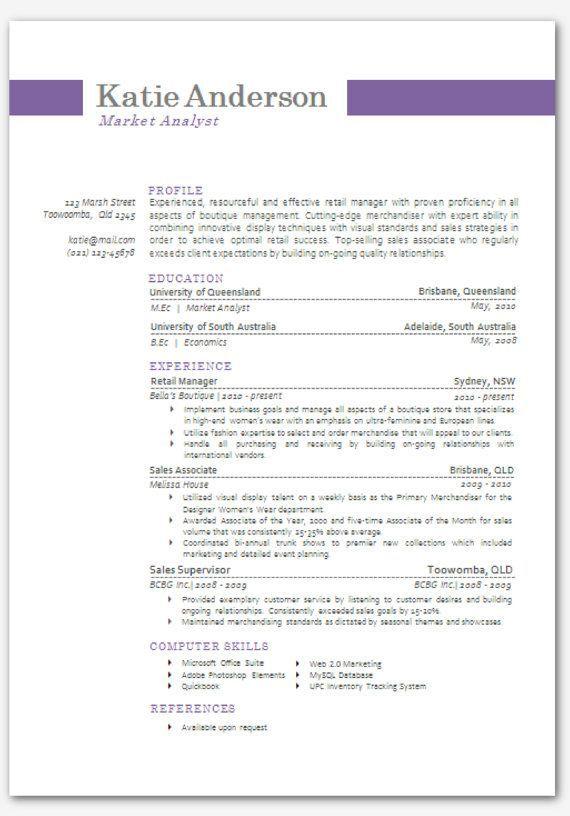 Modern Resume Template Word - Resume Sample