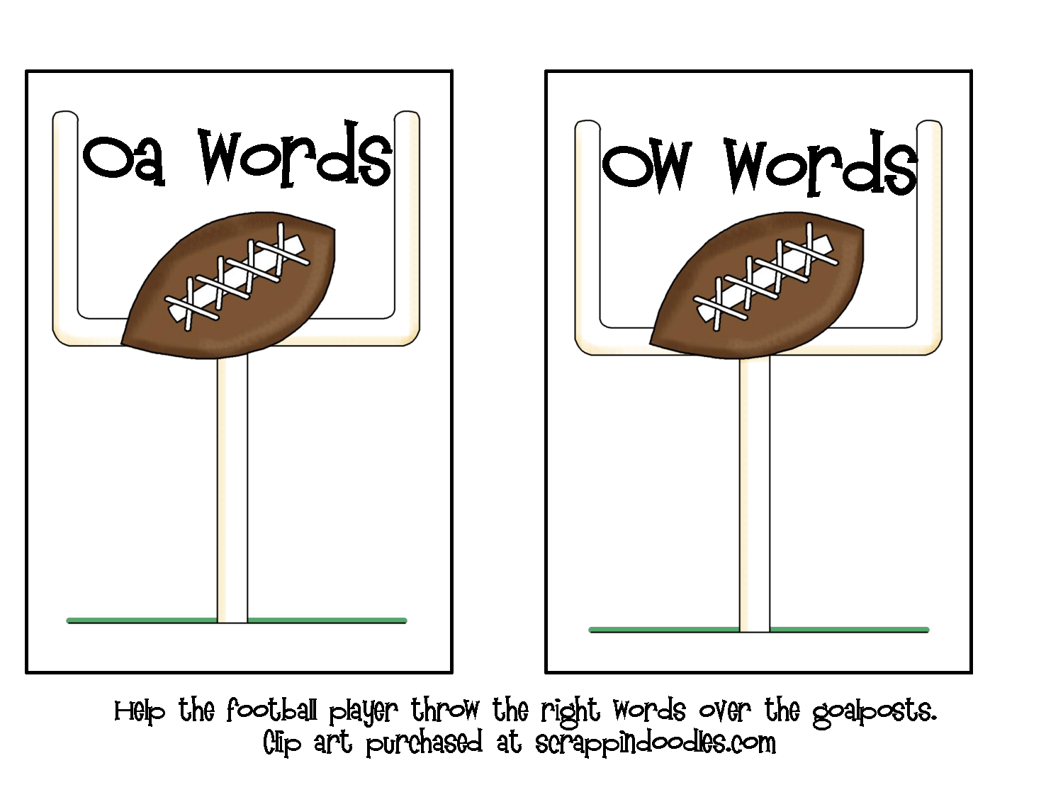 Field Goal Oa Ow Sort