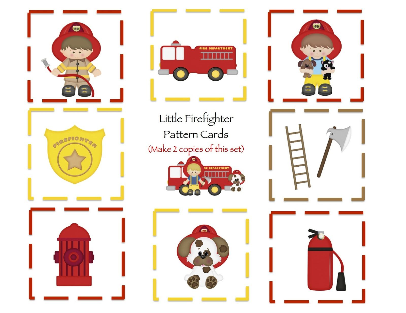 Valentines Cards Printouts Preschool Printables Free Little Firefighters Printable