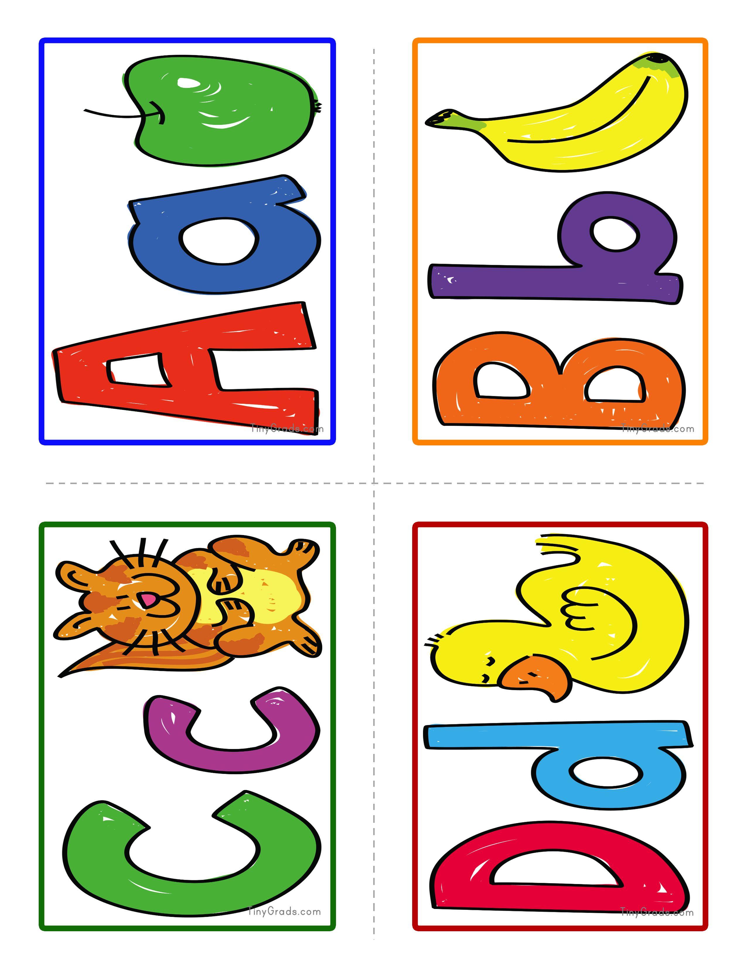 Tinygrads I Alphabet Flash Cards I Simple And