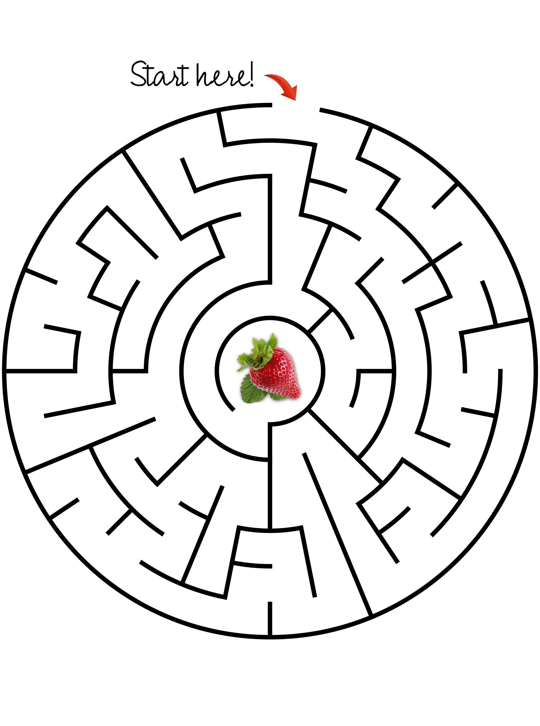 Maze Get The Strawberry Easy