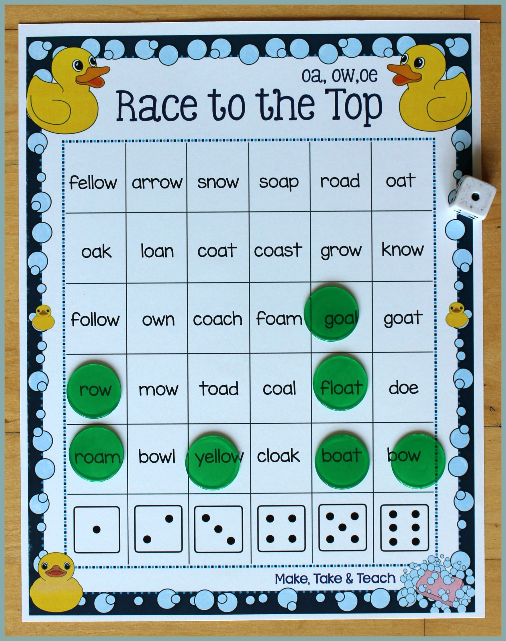 Oa Ow Oe Activities Sight Word