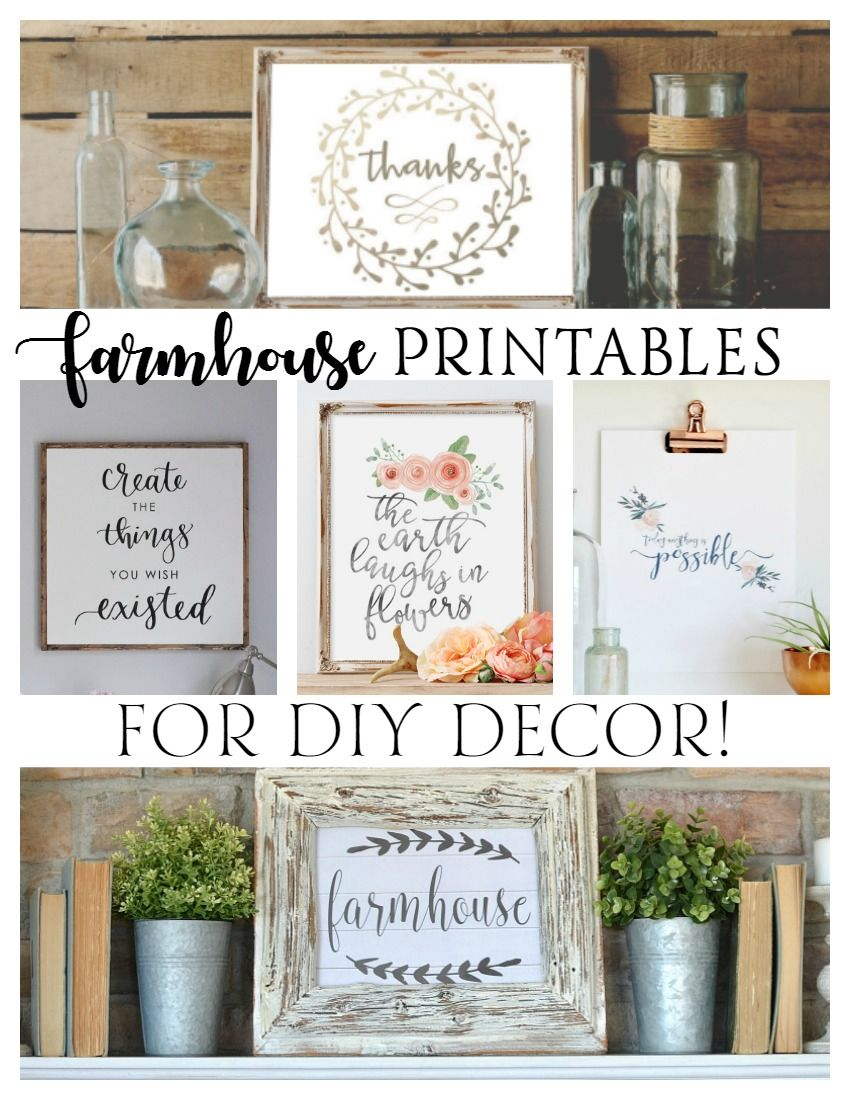 free farmhouse printables for diy decor free free printables and craft on farmhouse kitchen quotes free printable id=54202