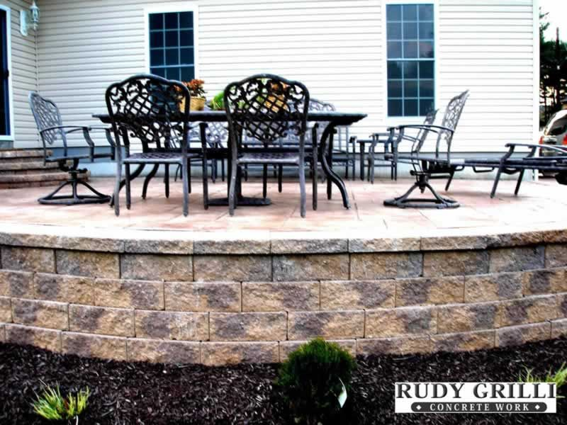 raised patio stamped concrete - Google Search | Patio ... on Raised Concrete Patio Ideas id=34772