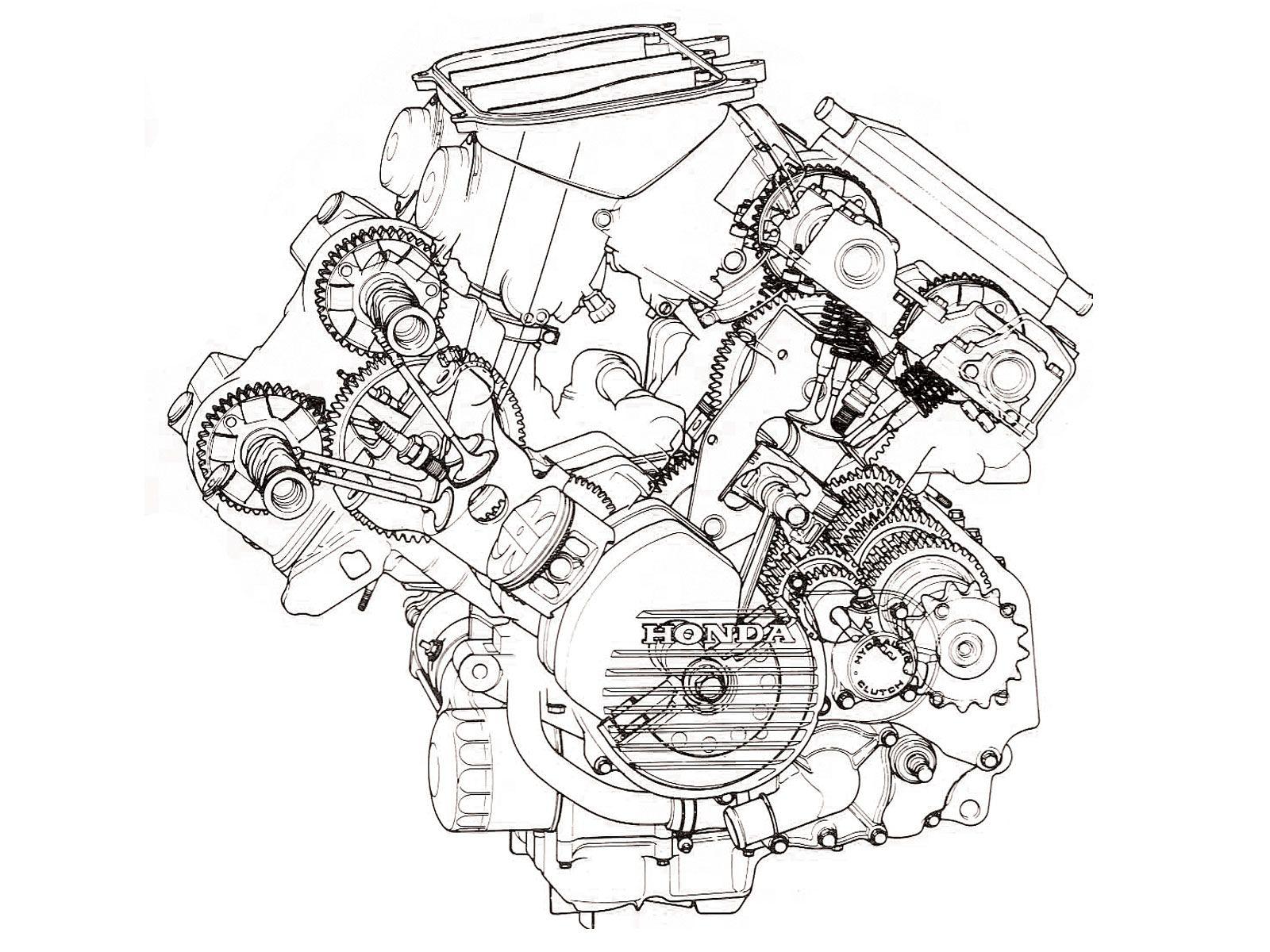 Honda Vfr750fg Interceptor V4 Motor Shot Geared Cams