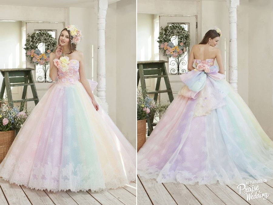 Utterly Blown Away By This Rainbow Pastel Gown From Nicole