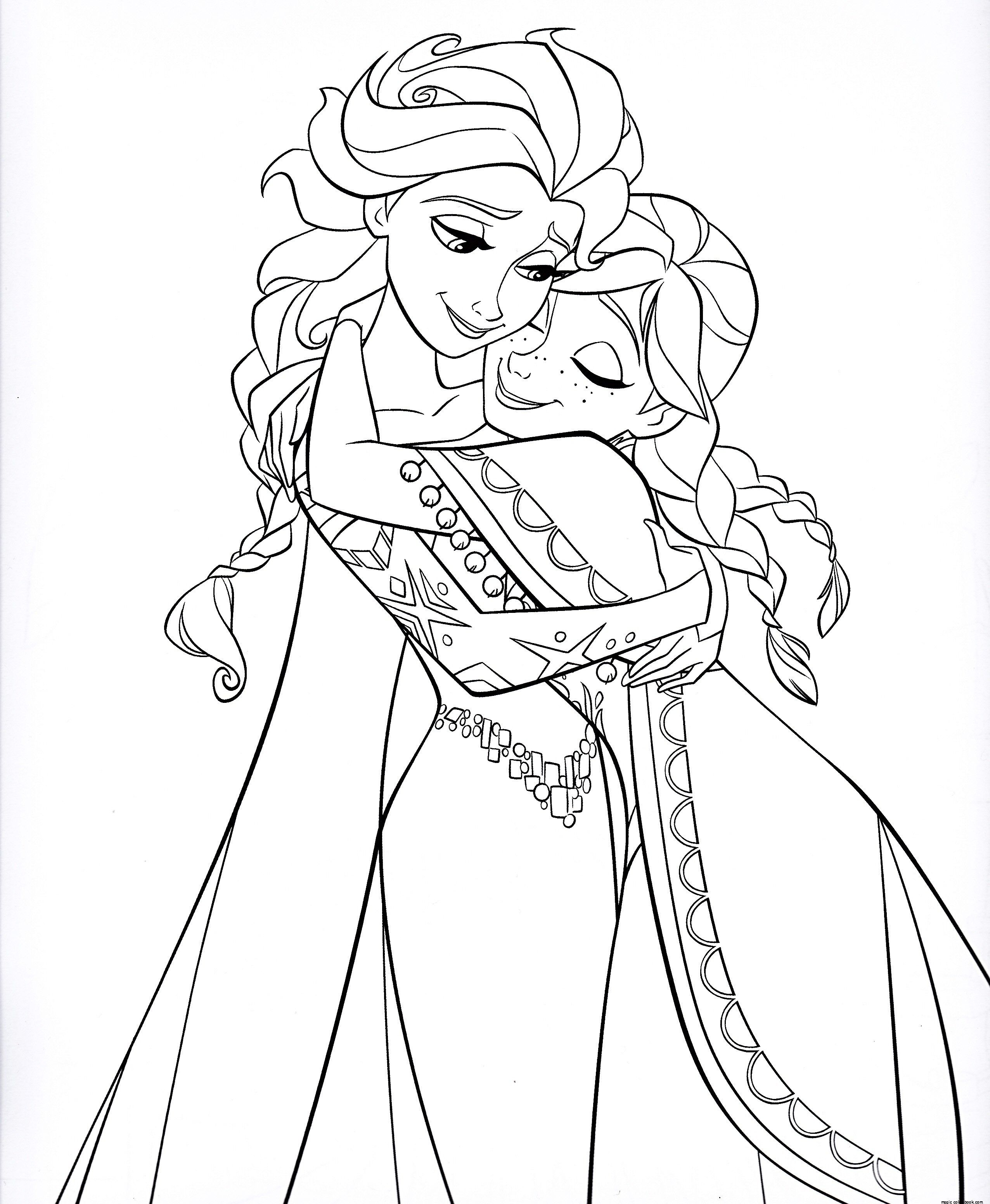 Pin By Magic Color Book On Princesses Coloring Pages Free