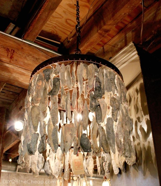 Diy Oyster Shell Chandelier And Lighting Project Week With Creative Abalone Ceiling Light Fixtures Driftwood Fixture