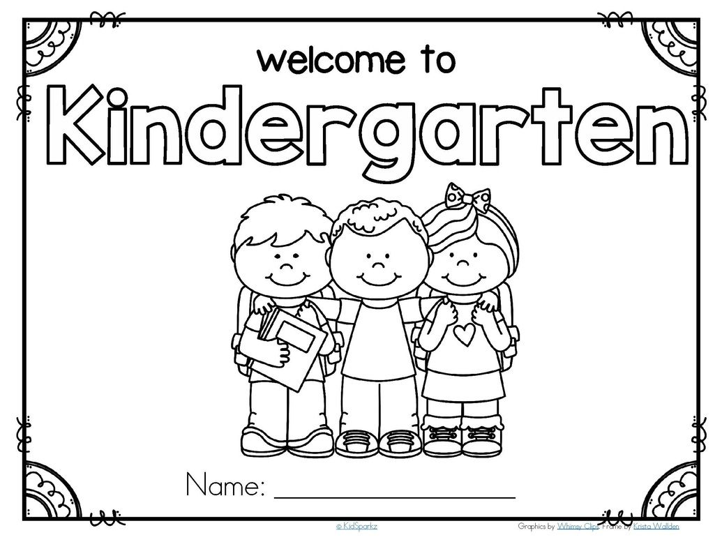 Free Back To School Welcome Poster For Kindergarten